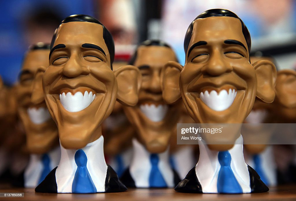 Obama Stress Heads are on display at the Weekly Standard booth during CPAC 2016 March 4 2016 in National Harbor Maryland The American Conservative...