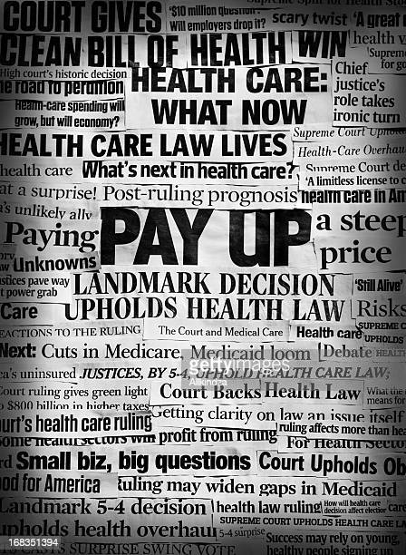 Obamacare lives bw headline collage