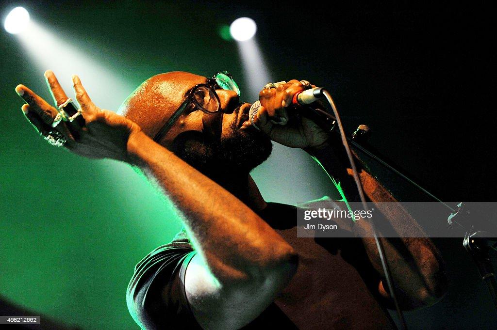 Obaro Ejimiwe aka Ghostpoet performs live on stage at Shepherd's Bush Empire on November 21 2015 in London England