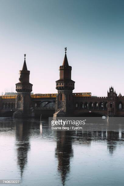Oberbaum Bridge Over River Spree Against Sky