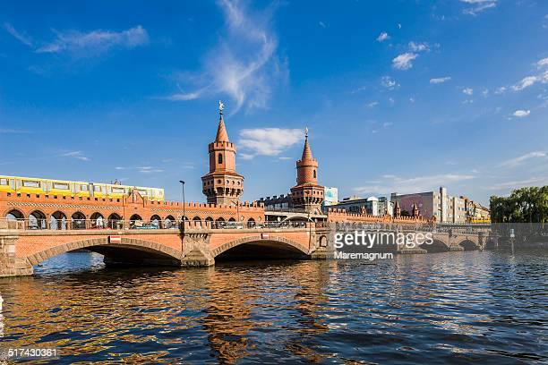 Oberbaumbrucke, Oberbaum Bridge and Spree river