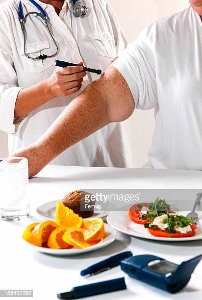 Obese diabetes patient.