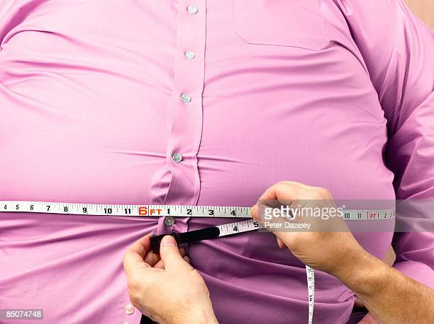 Obese man with 72 inch waist