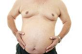 Portrait of an obese patient