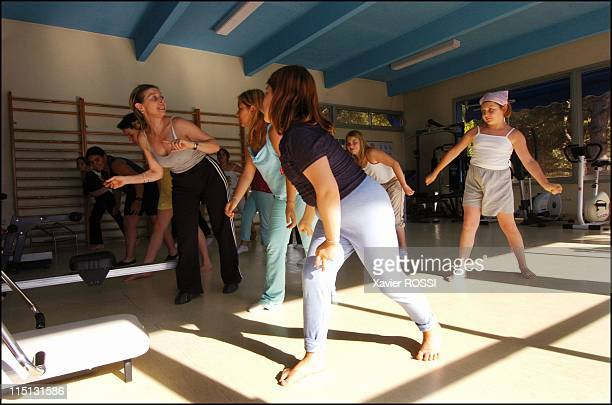 Obese teenagers get a second chance in Sanary Sur Mer France in May 2004 Young residents of Les Oiseaux during Martine Romanelli's dancing class