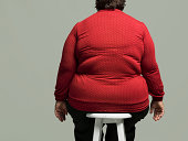 Obese woman on chair