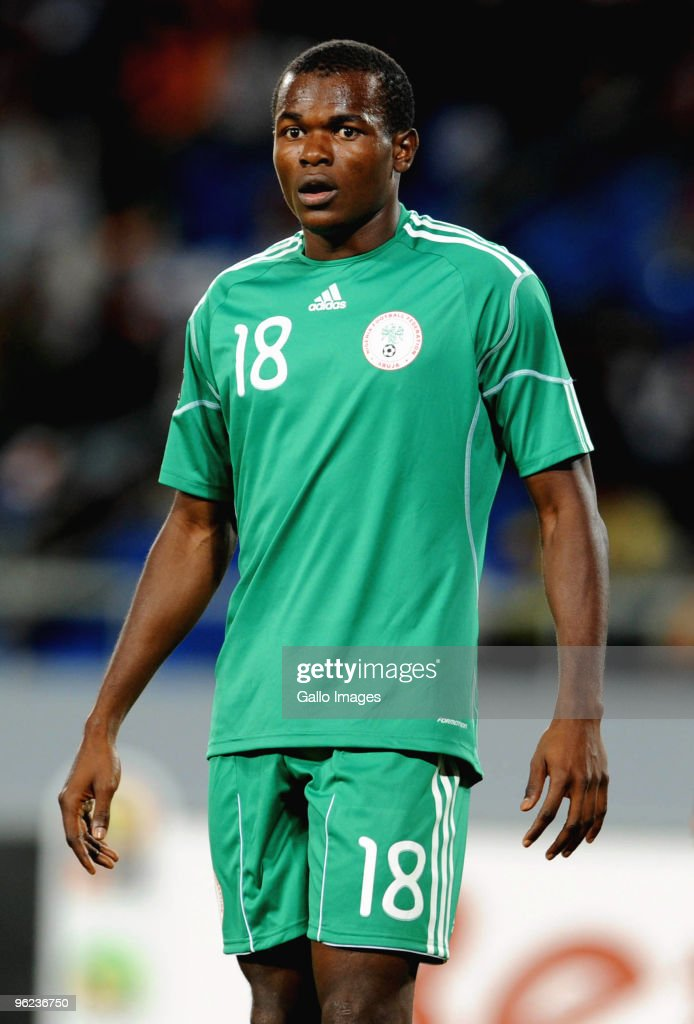 Obinna Nsofor of Nigeria during the Africa Cup of Nations Quarter Final match between Zambia and Nigeria from the Alto da Chela Stadium on January 25, 2010 in Lubango, Angola.