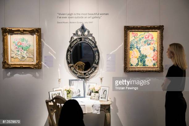 Objects and art works owned by Hollywood Icon and Gone With The Wind Star Vivien Leigh go on display as Sotheby's announces the sale of her personal...