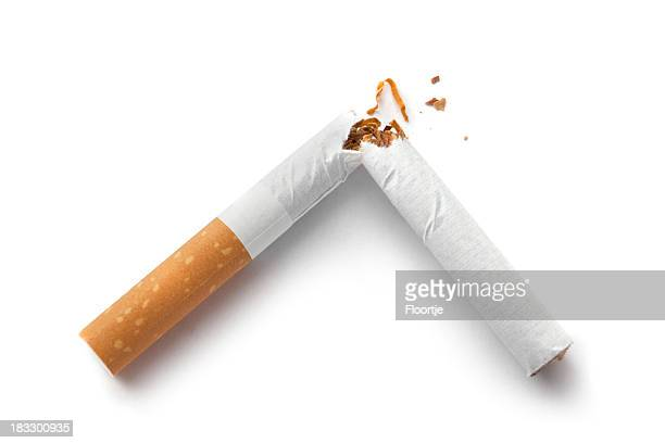 Objects: Cigarette Broken Isolated on White Background