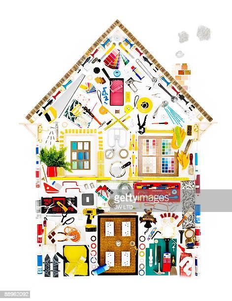 DIY objects in shape of house