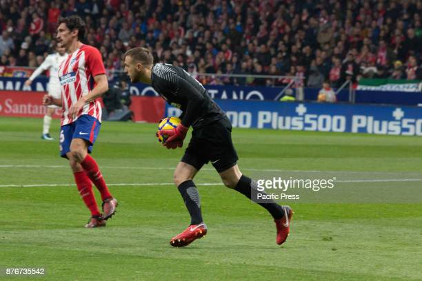 METROPOLITANO MADRID SPAIN Oblak catch the ball during Atletico de Madrid and Real Madrid match Null match between Atletico de Madrid and Real Madrid