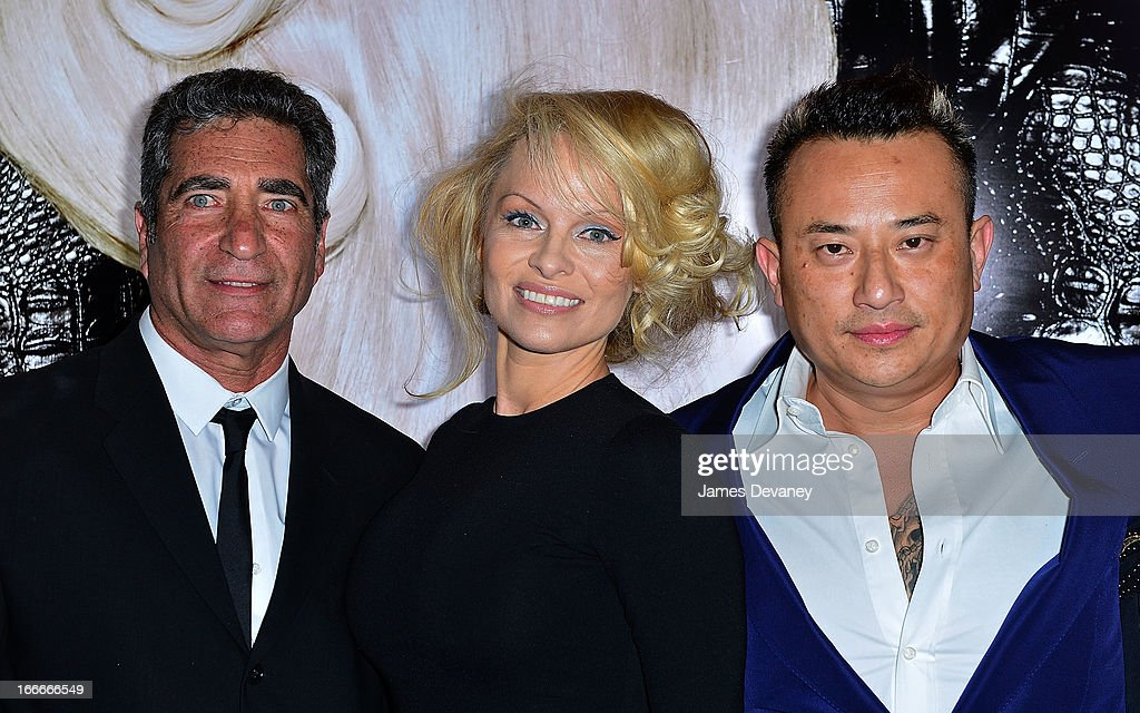 Obliphica CEO Roni Josef, <a gi-track='captionPersonalityLinkClicked' href=/galleries/search?phrase=Pamela+Anderson&family=editorial&specificpeople=171759 ng-click='$event.stopPropagation()'>Pamela Anderson</a> and John Blaine attend the International Beauty Show at the Javits Center on April 15, 2013 in New York City.
