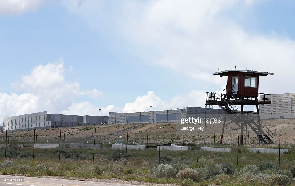 A observation tower sits on the edge of the new NSA's spy data collection center on May 7 2015 in Bluffdale Utah Located just south of Salt Lake City...