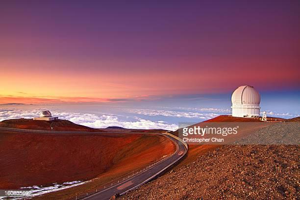 Observatory on Mountain Ridge