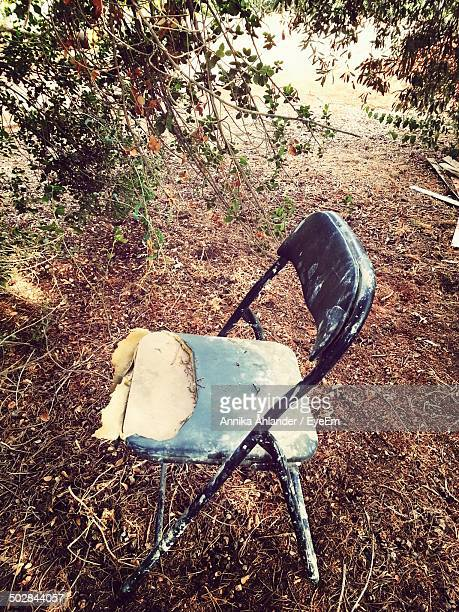 Obsolete chair outdoors