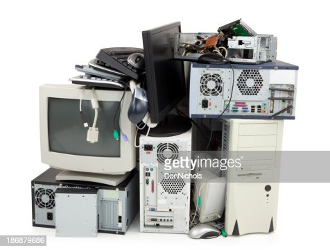 Obsolete computer electronics equipment for recycling