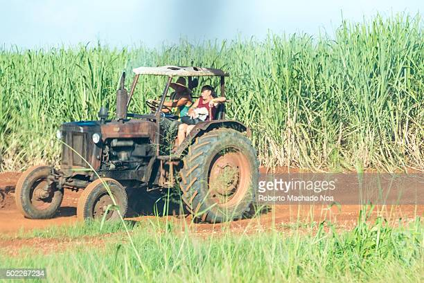 Obsolete Russian agricultural tractor in a cane field The lack of importing vehicles has forced the Cubans to innovate and keep obsolete vehicles...