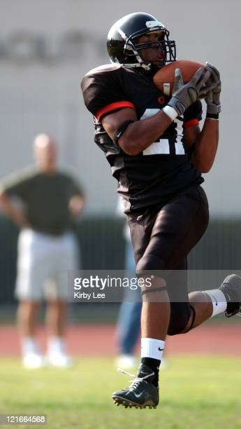 Occidental College junior receiver Josh Jones makes a reception during 2814 victory over Williamette in NCAA Division III firstround playoff game in...