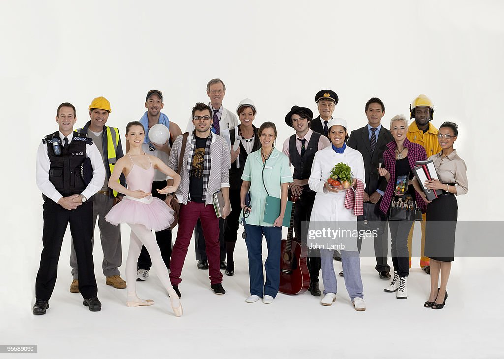 Occupations group : Stock Photo