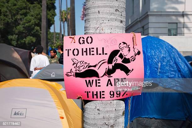 Occupy LA protest camp.