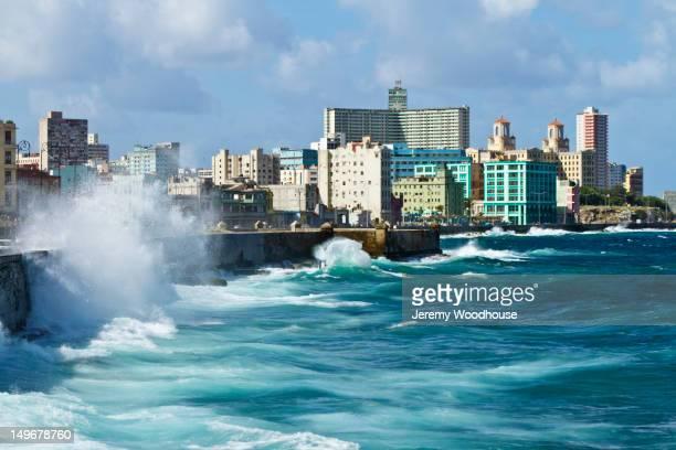 Ocean and Cuban city