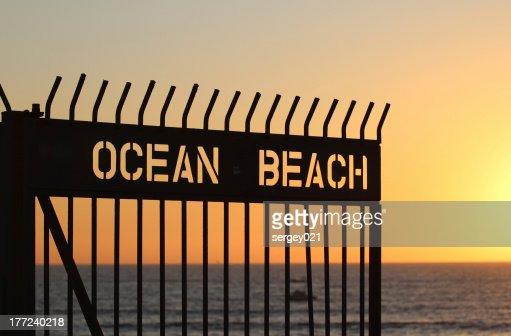 Ocean Beach Sunset : Stock Photo