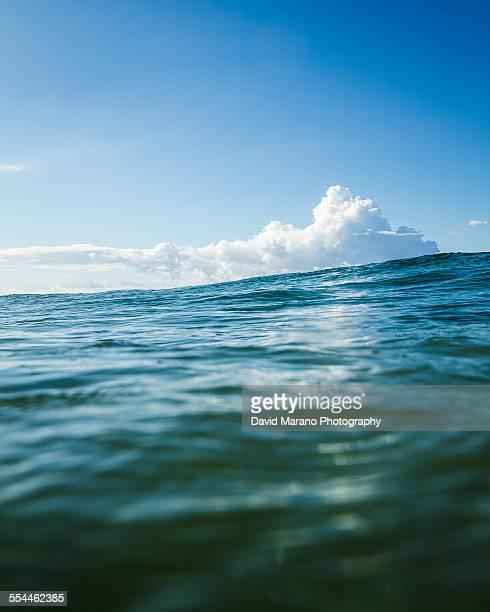 blue ocean clouds scenic - photo #7