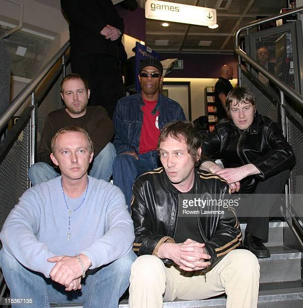 Ocean Colour Scene during Ocean Colour Scene InStore Performance and Visit March 21 2005 at HMV Store in Birmingham Great Britain