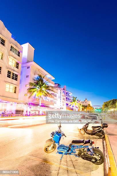 Ocean drive at rush hour, South Beach, Miami