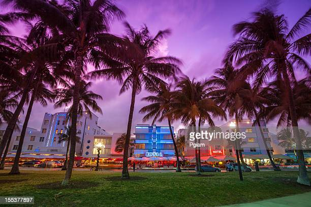 Ocean Drive am Strand in Miami