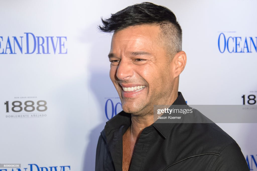 Ocean Drive Magazine and Ricky Martin honor Hurricane Victims in Puerto Rico at October Issue Debut at Wall at W South Beach on October 10, 2017 in Miami Beach, Florida.