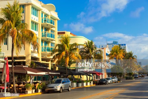 Ocean Drive street in South Beach, FL