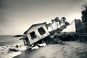 Tamil Nadu house on the beach stolen by the ocean