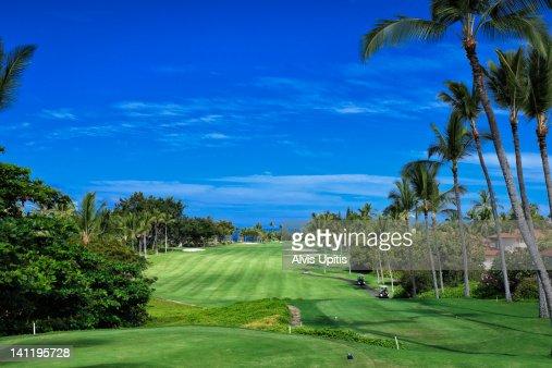 Ocean golf course of Kona Country Club in Hawaii