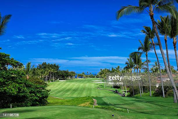Ocean golf course of Kona Country Club in Hawaii