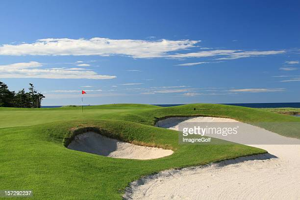 Ocean Golf Course Scenic With Beautiful Bunkers