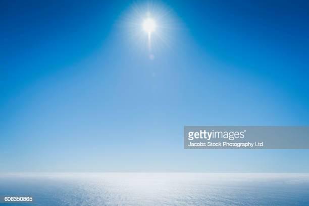 Ocean horizon and blue sky