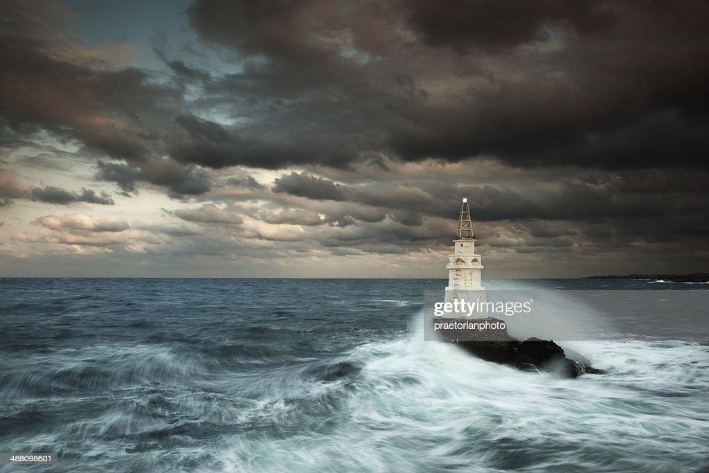 Ocean lighthouse : Stock Photo