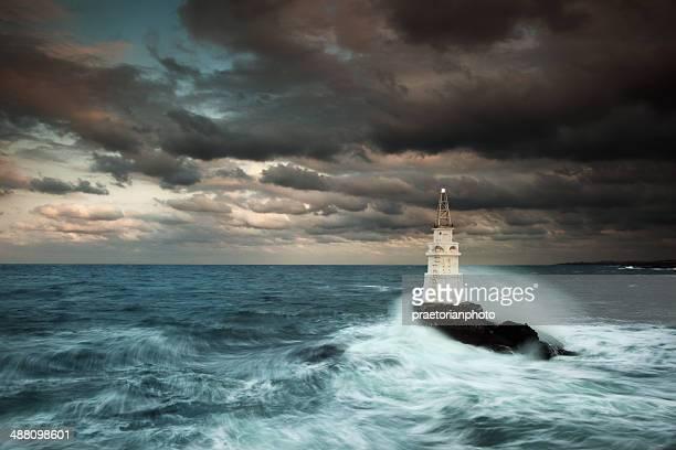 Meer und Leuchtturm