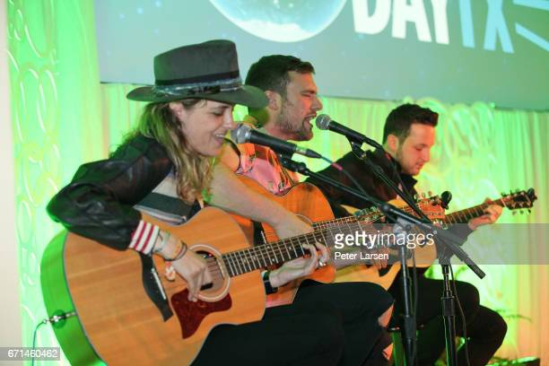Ocean Park Standoff perform at the EARTHxGlobal Gala on April 21 2017 in Dallas Texas