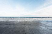 Ocean parking lot
