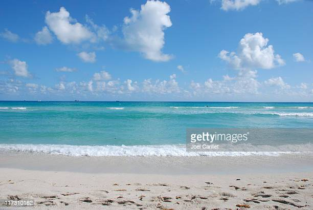 Ocean, sand, and sky on Miami's South Beach