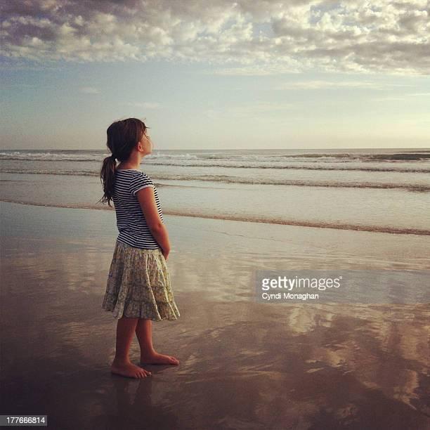 Ocean sky girl