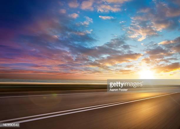 Ocean Sunset Road