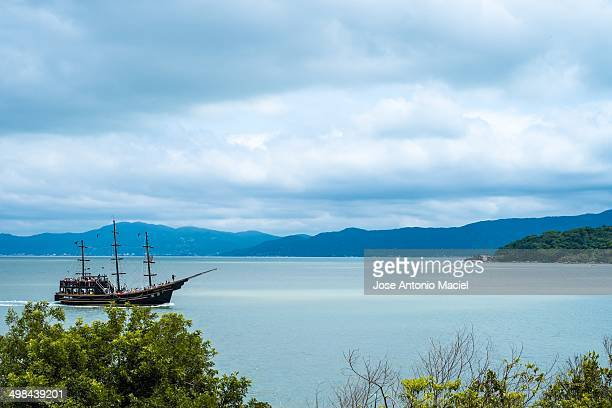 Ocean view from the island of Anhatomirim in the state of Santa Catarina Brazil The island is located in the South Atlantic Ocean not far from the...