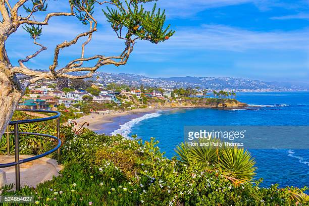 Ocean view of Laguna Beach coastline in Orange County,CA(P)