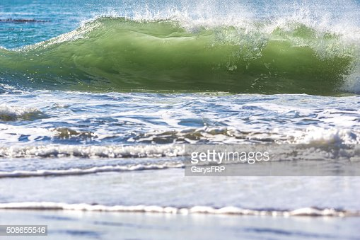 Ocean Wave Brookings Oregon Pacific Coast Translucent Green : Stock Photo