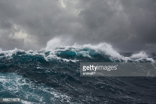 ocean wave during storm : Stock Photo