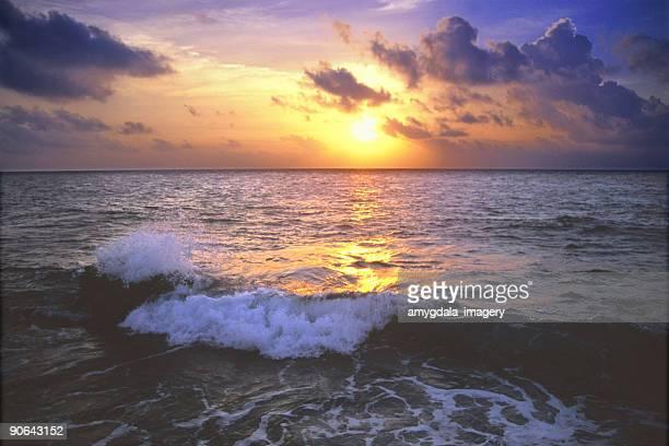 Meer Sonnenuntergang-Himmel