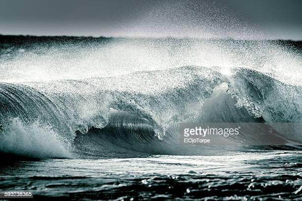 Ocean waves in Piriápolis, Uruguay